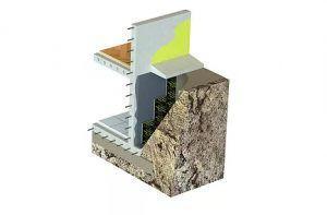 гидроизоляция под блоками из пеностекла в теплой зоне
