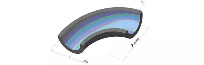 Размерный ряд колен из пеностекла