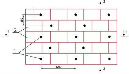 Схема установки дюбелей для стен