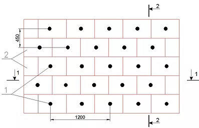 Схема установки дюбелей для потолка