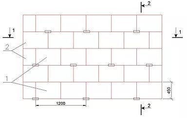 Схема установки анкеров для стен