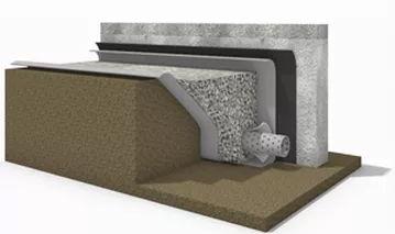 Теплоизоляция фундаментов. Устройство дренажа грунтовых вод