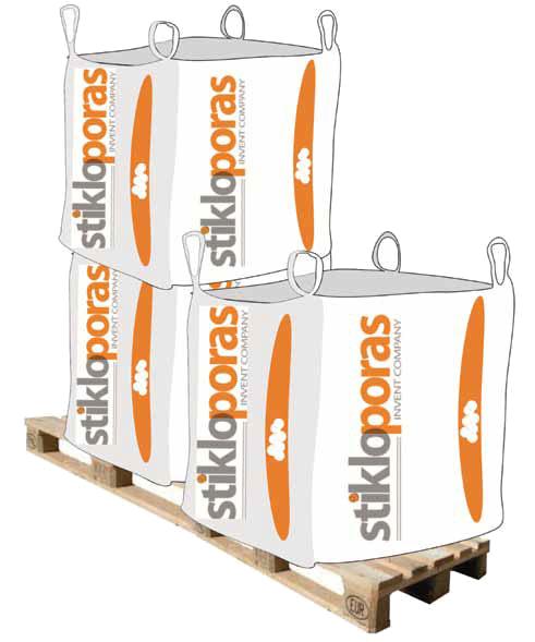 Упаковка гранулята Stikloporas